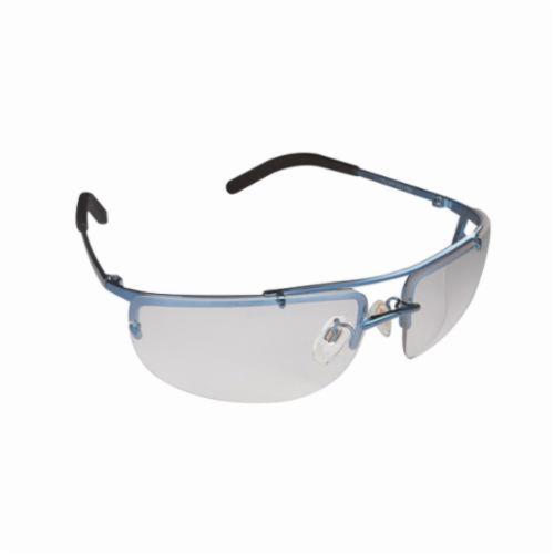 3M™ Metaliks™ 078371-62374 Value Range Protective Glasses, Anti-Fog Clear Lens, Half Framed Blue Metal Frame, Polycarbonate Lens, Specifications Met: ANSI Z87.1, CSA Z94.3