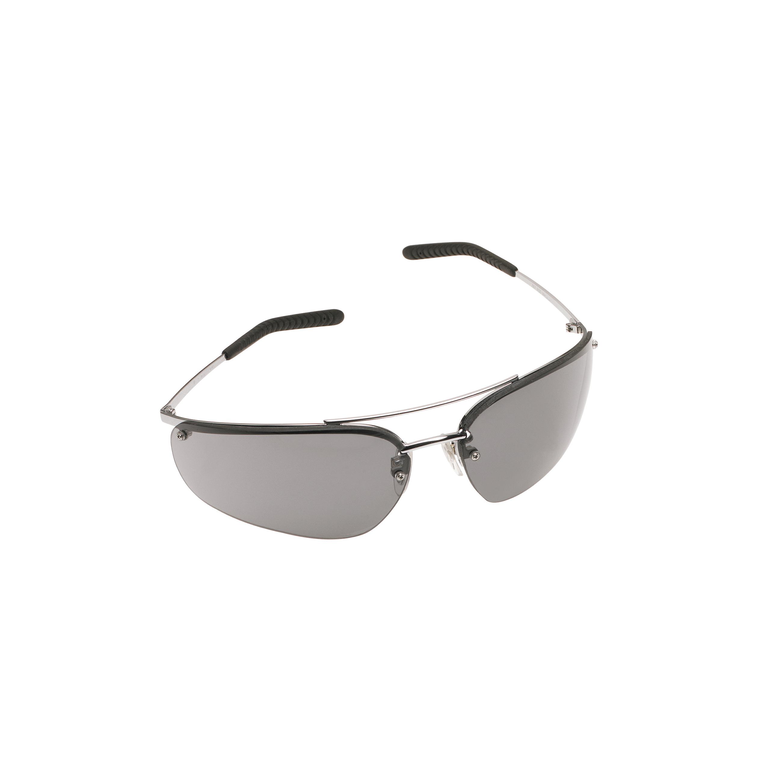 3M™ Metaliks™ 078371-62381 15171-10000-20 Value Range Protective Glasses, Anti-Fog Gray Lens, Half Framed Polished Metal Metal Frame, Polycarbonate Lens, Specifications Met: ANSI Z87.1, CSA Z94.3