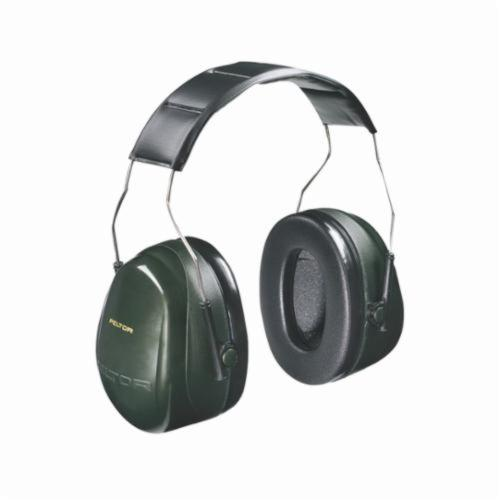 3M™ Peltor™ 093045-08071 Optime™ 101 Earmuffs, 27 dB Noise Reduction, Black/Green, Over The Head Band Position, ANSI S3.19-1974