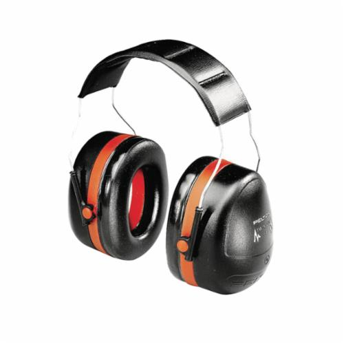 3M™ Peltor™ 093045-08101 Optime™ 105 Dielectric Earmuffs, 30 dB Noise Reduction, Black/Red, Over The Head Band Position, ANSI S3.19-1974, CSA Class AL
