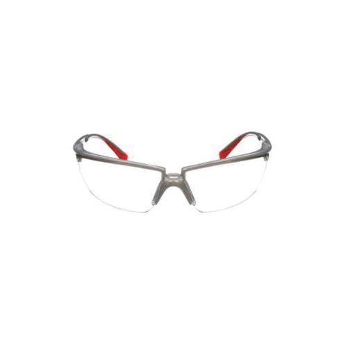 3M™ 078371-62091 Protective Eyewear, Anti-Fog, Clear Lens, Half Framed Frame, Silver, Plastic Frame, Polycarbonate Lens, ANSI Z87.1-2003, CSA Z94.3-2007