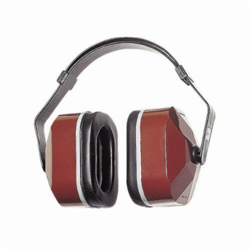 3M™ Peltor™ 080529-30001 Lightweight Earmuffs, 25 dB Noise Reduction, Black/Maroon, Multi-Position Band Position, ANSI S3.19-1974, CSA Class A