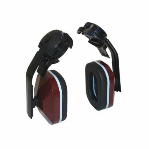 3M™ E-A-R™ 080529-30013 Lightweight Hard Hat Earmuffs, 21 dB Noise Reduction, Black/Maroon, CSA Class B