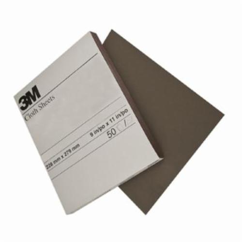 3M™ 051144-02432 Utility Abrasive Sheet, 11 in L x 9 in W, Medium Grade, Aluminum Oxide Abrasive, Cloth Backing