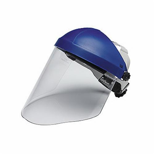 3M™ 078371-82783 Faceshield Assembly, 9 in H x 14-1/2 in W x 0.08 in THK, Clear, Polycarbonate Glass