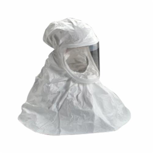 3M™ 051138-72434 BE Series Double Bib Respirator Hood, L, For Use With 3M™ Air-Mate™, Breathe Easy™ Powered Air Purifying Respirators (PAPR) and 3M™ Supplied Air Hood Systems BE-Series, White
