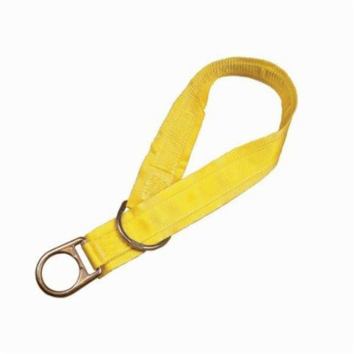 3M DBI-SALA Fall Protection 840779-00008 Pass-Thru Web Tie-Off Adaptor, 6 ft L x 1-3/4 in W, Polyester/Steel, Yellow