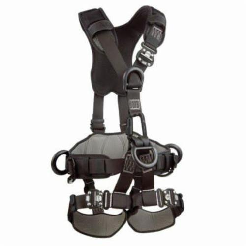 3M DBI-SALA Fall Protection 1113371 ExoFit™ NEX™ Rope Access Rescue Harness, M, 420 lb Load, Repel™ Polyester Strap, Quick-Connect Leg Strap Buckle, Quick-Connect Chest Strap Buckle, Steel/Aluminum Hardware, Black
