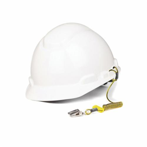 3M DBI-SALA Fall Protection Python Safety™ 1500061 Hard Hat Coil Tether, 34 in Stretched/4 in Relaxed, Black/Yellow