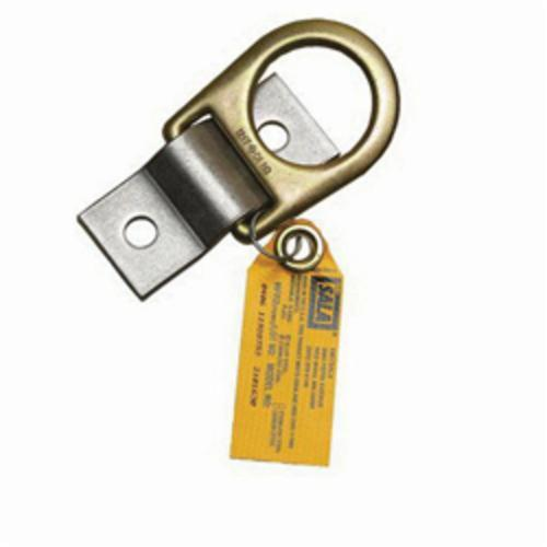 3M™ DBI-SALA® Fall Protection 840779-00063 Anchorage Plate With Zinc Plated Steel D-Ring, 304 Stainless Steel, Silver/Yellow Zinc