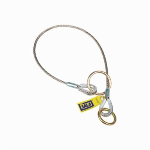 3M DBI-SALA Fall Protection 5900551 Pass-Thru Cable Tie-Off Adaptor, 6 ft L, Stainless Steel, Silver