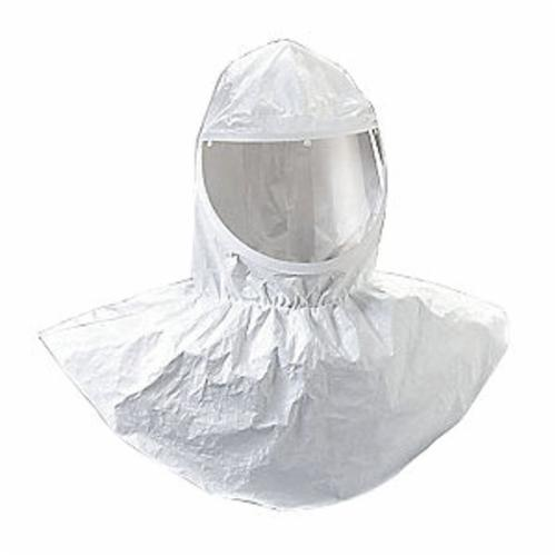 3M™ 051131-07037 H Series Hood With Collar, Standard, For Use With 3M™ Belt Mounted Powered Air Purifying Respirator (PAPR) and Supplied Air Respirator Systems, White