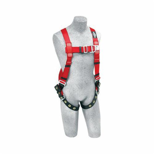 3M Protecta Fall Protection 1191273 Pro™ Climbing Climbing Harness, M to L, 420 lb Load, Polyester Webbing Strap, Tongue Leg Strap Buckle, Stainless Steel Grommet/Steel Hardware, Red