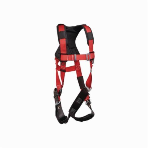 3M Protecta Fall Protection 1191430 Pro™ Comfort Padding Harness, M to L, 420 lb Load, Polyester Webbing Strap, Tongue Leg Strap Buckle, Stainless Steel Grommet/Steel Hardware, Red
