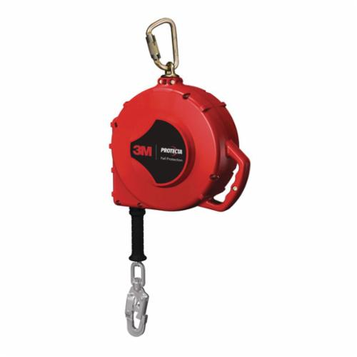 3M Protecta Fall Protection 3590670 Rebel™ Self-Retracting Lifeline With Self-Locking Snap Hook, 420 lb Load Capacity, 100 ft L, Specifications Met: ANSI A10.32, ANSI Z359.1, ANSI Z359.14, OSHA 1910.66, OSHA 1926.502