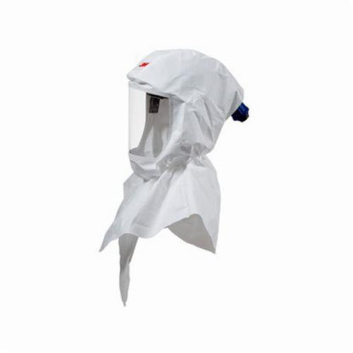 3M™ Versaflo™ 051131-37301 Double Bib Painter's Hood, Standard, For Use With Certain 3M™ Powered Air Purifying and Supplied Air Respirator System, White