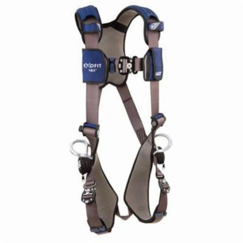 3M DBI-SALA Fall Protection 1113061 ExoFit™ NEX™ Retrieval Harness, S, 420 lb Load, Repel™ Polyester Strap, Quick-Connect Leg Strap Buckle, Quick-Connect Chest Strap Buckle, Steel/Aluminum Hardware, Gray