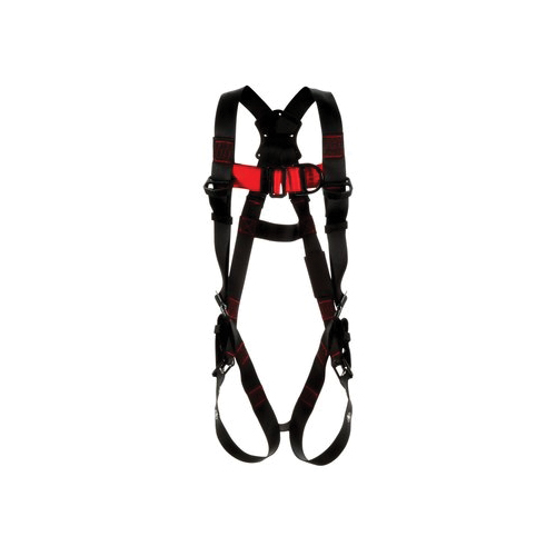3M Protecta Fall Protection 1161523 Climbing Harness, 2XL, 420 lb Load, Polyester Strap, Tongue Leg Strap Buckle, Pass-Thru Chest Strap Buckle, Steel Hardware, Black
