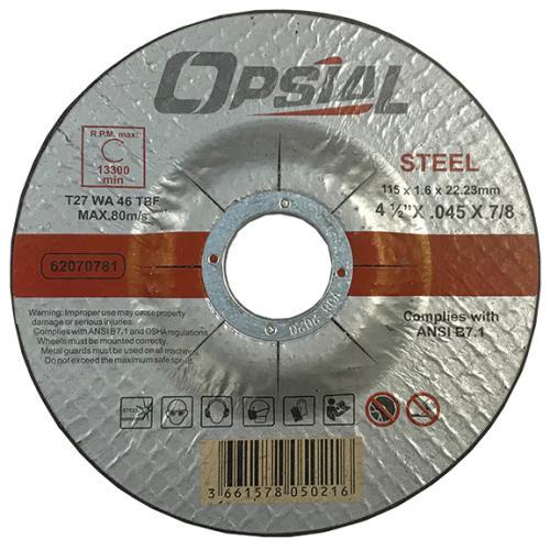 Opsial 4-1/2 X .045 X 7/8 Type 27 Cut-off Wheel