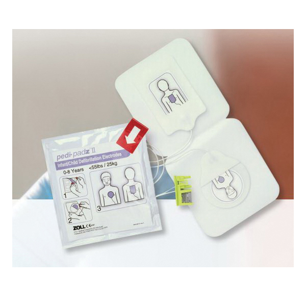 AED® Pedi-padz® II 8900-0810-01 Pediatric Electrode, 31-1/2 in L Cable, For Use With 21700010101011010, 21800010101011010 and 21900010101011010 Defibrillator