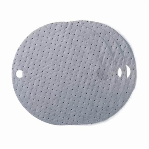 SPC® ALLWIK® DTA25 1-Ply Industrial Absorbent Drum Top Cover, 6 gal Absorption Capacity, Universal Fluids Absorbed, Polypropylene, Gray