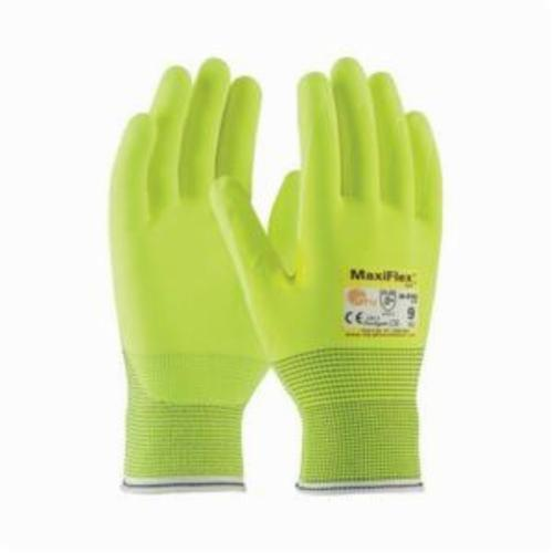 ATG® MaxiFlex® Cut™ 34-8743FY Unisex Cut Resistant Gloves, MicroFoam/Nitrile Coating, Continuous Knit Wrist Cuff, Resists: Abrasion, Cut, Puncture and Tear, ANSI Cut-Resistance Level: A2