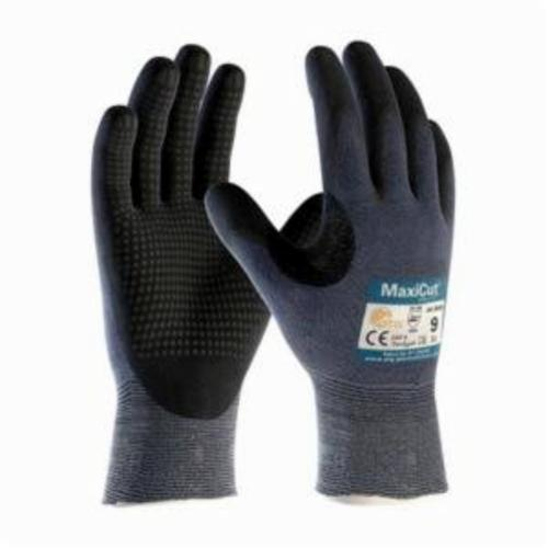 ATG® MaxiCut® Ultra™ 44-3445 High Performance Unisex Cut Resistant Gloves, Nitrile with MicroFoam Grip Coating, Engineered Yarn/Fiber, Continuous Knit Wrist Cuff, Resists: Abrasion, Cut, Puncture and Tear, ANSI Cut-Resistance Level: A3