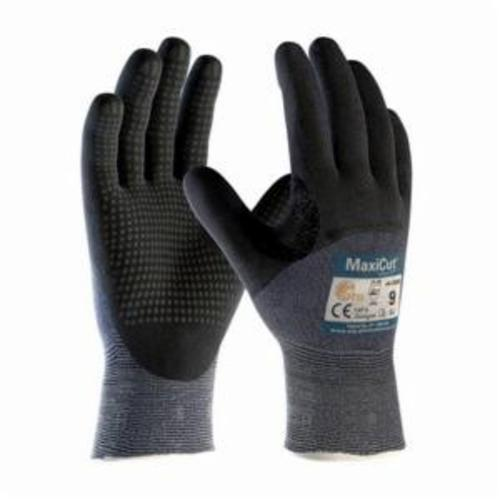 ATG® MaxiCut® Ultra™ 44-3455 High Performance Unisex Cut Resistant Gloves, Nitrile with MicroFoam Grip Coating, Engineered Yarn, Continuous Knit Wrist Cuff, Resists: Abrasion, Cut, Puncture and Tear, ANSI Cut-Resistance Level: A3