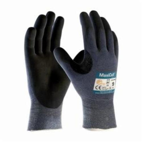 ATG® MaxiCut® Ultra™ 44-3745 High Performance Unisex Cut Resistant Gloves, Nitrile with MicroFoam Grip Coating, Engineered Yarn/Fiber, Continuous Knit Wrist Cuff, Resists: Abrasion, Cut, Puncture and Tear, ANSI Cut-Resistance Level: A3