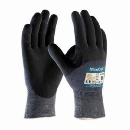 ATG® MaxiCut® Ultra™ 44-3755 High Performance Cut Resistant Gloves, Nitrile with MicroFoam Grip Coating, Engineered Yarn, Continuous Knit Wrist Cuff, Resists: Abrasion, Cut, Puncture and Tear, ANSI Cut-Resistance Level: A3