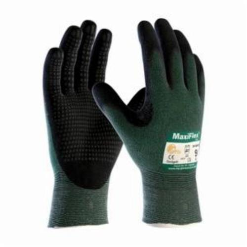 ATG® MaxiFlex® Cut™ 34-8443 High Performance Unisex Cut Resistant Gloves, Nitrile with MicroFoam Grip Coating, Engineered Yarn, Continuous Knit Wrist Cuff, Resists: Abrasion, Cut, Puncture and Tear, ANSI Cut-Resistance Level: A2