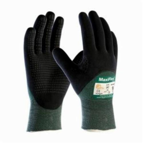 ATG® MaxiFlex® Cut™ 34-8453 Unisex Cut Resistant Gloves, Nitrile with MicroFoam Grip Coating, Engineered Yarn, Continuous Knit Wrist Cuff, Resists: Abrasion, Cut, Puncture and Tear, ANSI Cut-Resistance Level: A2