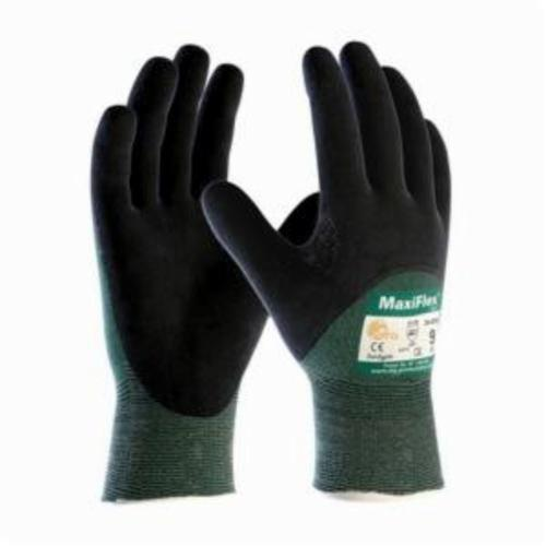 ATG® MaxiFlex® Cut™ 34-8753 Cut Resistant Gloves, MicroFoam/Nitrile Coating, Engineered Yarn, Continuous Knit Wrist Cuff, Resists: Abrasion, Cut, Puncture and Tear, ANSI Cut-Resistance Level: A2
