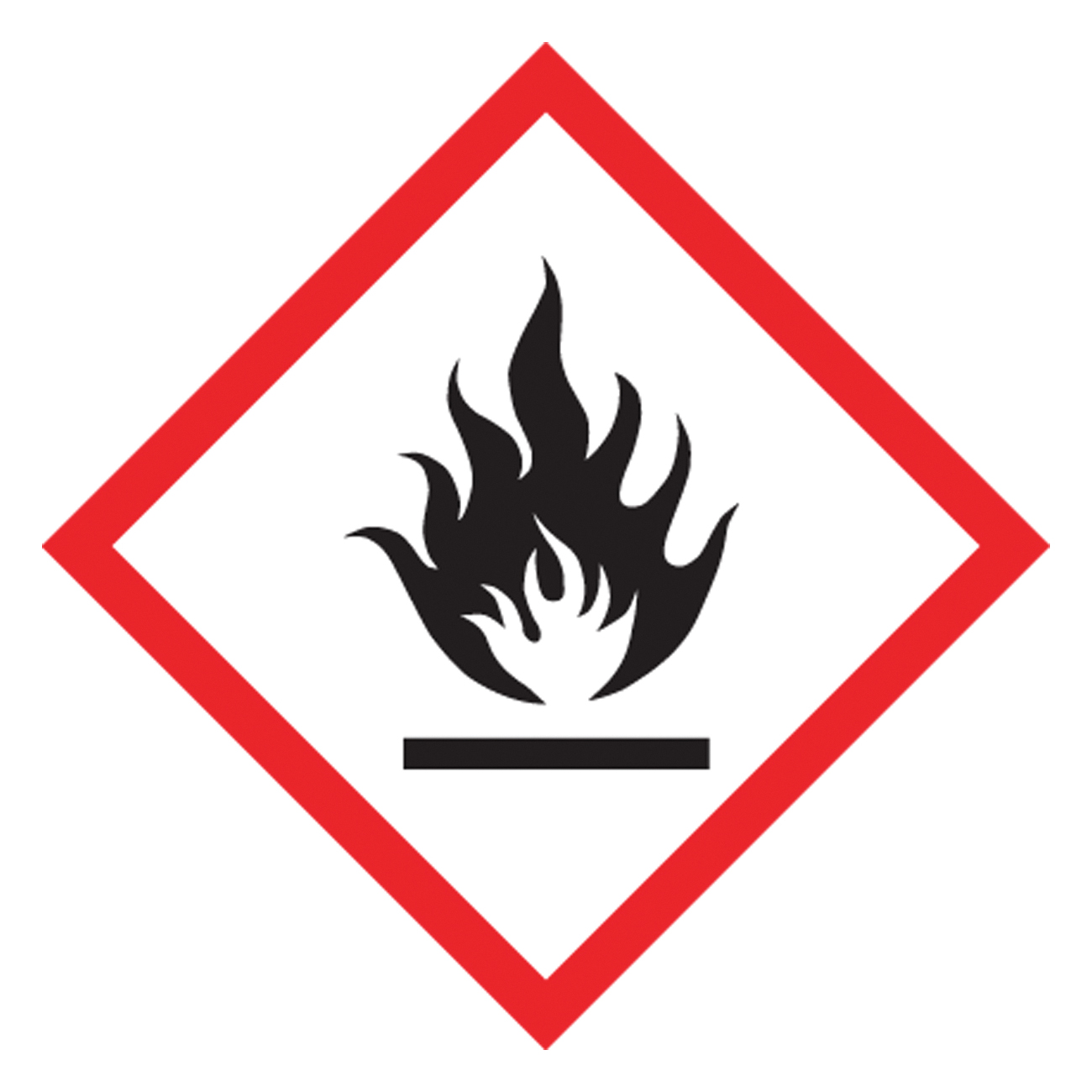 Accuform® LZH601EV5 Diamond Self-Adhesive GHS Pictogram Label, 1 in L x 1 in W, (Flame) Legend, Black/Red/White, Adhesive Polyester, 500 per Roll Labels