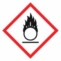 Accuform® LZH602EV5 Diamond Self-Adhesive GHS Pictogram Label, 1 in L x 1 in W, (Flame Over Circle) Legend, Black/Red/White, Adhesive Polyester, 500 per Roll Labels