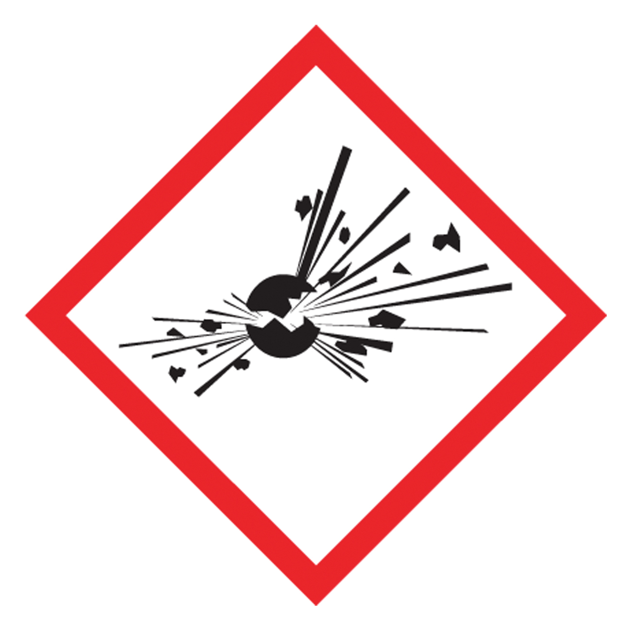 Accuform® LZH603EV5 Diamond Self-Adhesive GHS Pictogram Label, 1 in L x 1 in W, (Exploding Bomb) Legend, Black/Red/White, Adhesive Polyester, 500 per Roll Labels