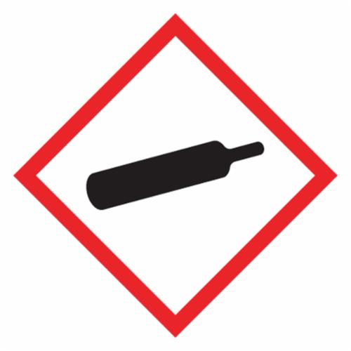 Accuform® LZH605EV5 Diamond Shape Self-Adhesive GHS Pictogram Label, 1 in L x 1 in W, (Gas Cylinder), Black/Red/White, Adhesive Polyester