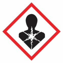 Accuform® LZH609EV5 Diamond Self-Adhesive GHS Pictogram Label, 1 in L x 1 in W, (Health Hazard) Legend, Black/Red/White, Adhesive Polyester, 500 per Roll Labels