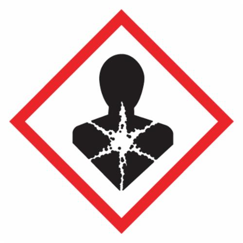 Accuform® LZH619EV5 Diamond Shape Self-Adhesive GHS Pictogram Label, 2 in L x 2 in W, (Health Hazard), Black/Red/White, Adhesive Polyester