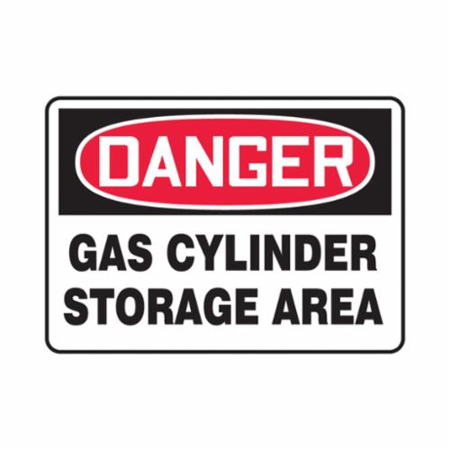Accuform® MCPG005VP Rectangle Safety Sign, DANGER, Text, GAS CYLINDER STORAGE AREA, 0.055 in Plastic, Wall Mounting, 7 in H x 10 in W, English