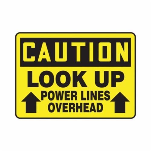 Accuform® MELC626VP Caution Sign, CAUTION, 10 in H x 14 in W, 0.055 in Plastic