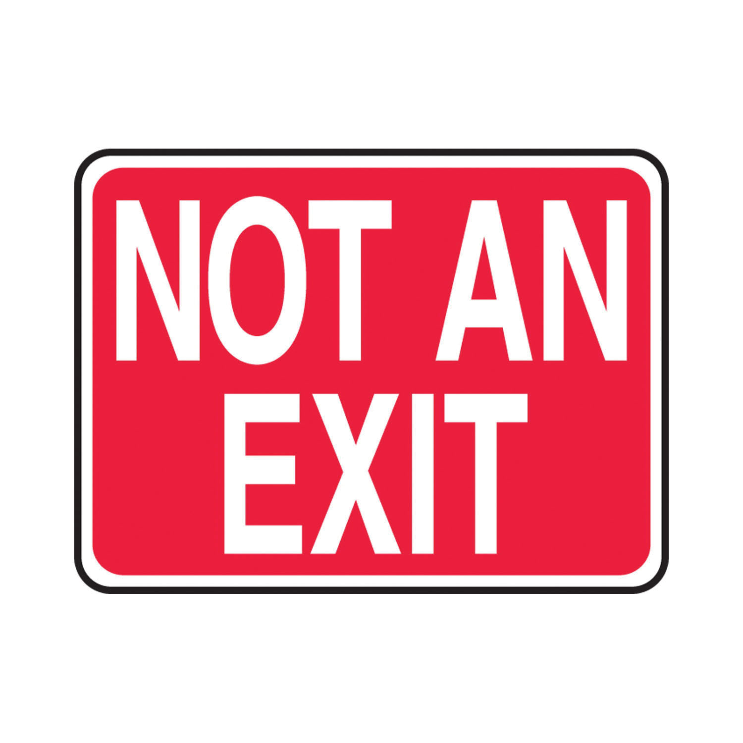 Accuform® MADM419VP Rectangle Safety Sign, 7 in H x 10 in W, Red on White, Plastic, Through Hole Mount