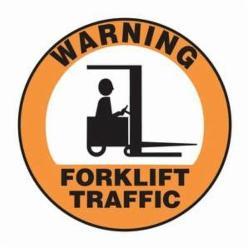 Accuform® MFS2817 Slip-Gard™ Floor Sign, 17 in W, Black on Orange, Adhesive Vinyl