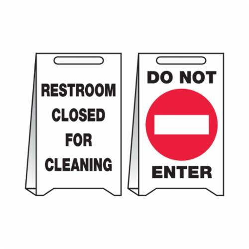 Accuform® PFE495 Fold-Ups® Reversible Floor Sign, 20 in H x 12 in W, Corrugated Plastic