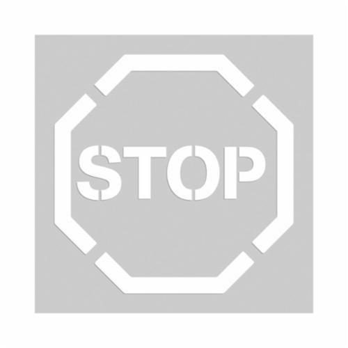 Accuform® PMS205 Floor Marking Stencil, STOP, 1.7 in H, Polyethylene