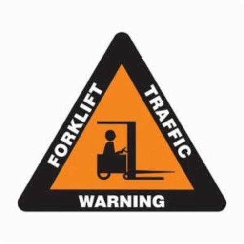 Accuform® PSR816 Slip-Gard™ Triangle Floor Sign, No Header, 17 in H, White/Orange on Black, Non-Slip Adhesive Vinyl