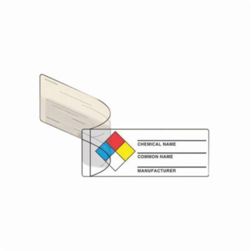 Accuform® LZN401EV NFPA Label, 1 in L x 3 in W, NFPA CHEMICAL NAME, COMMON NAME, MANUFACTURER NAME Legend, Adhesive Vinyl, 100 per Roll Labels