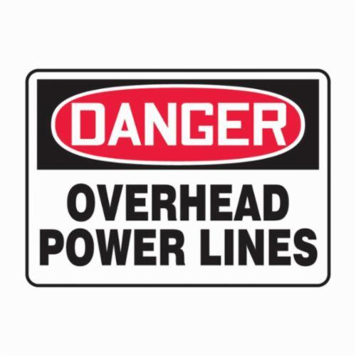 Accuform® MELC054VP Semi-Flexible Danger Sign, DANGER, 10 in H x 14 in W, Red/Black on white, Plastic