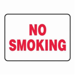Accuform® MSMK575VP Moisture-Resistant No Smoking Sign, No Header, 7 in H x 10 in W, Red on white, Plastic, Surface Mounting