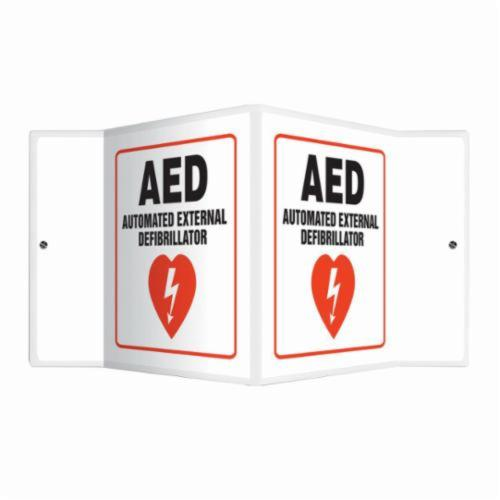 Accuform® PSP610 Projection™ Caution Sign With Graphic, No Header, 6 in H x 5 in W, Red/Black on white, Plastic, Wall Mounting
